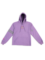 Load image into Gallery viewer, DCDCT Lilac Hoodie Flat Lay Front View