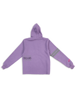 Load image into Gallery viewer, DCDCT Lilac Hoodie Flat Lay Back View