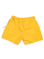 Load image into Gallery viewer, Flat Lay Yellow Nylon Short Back View