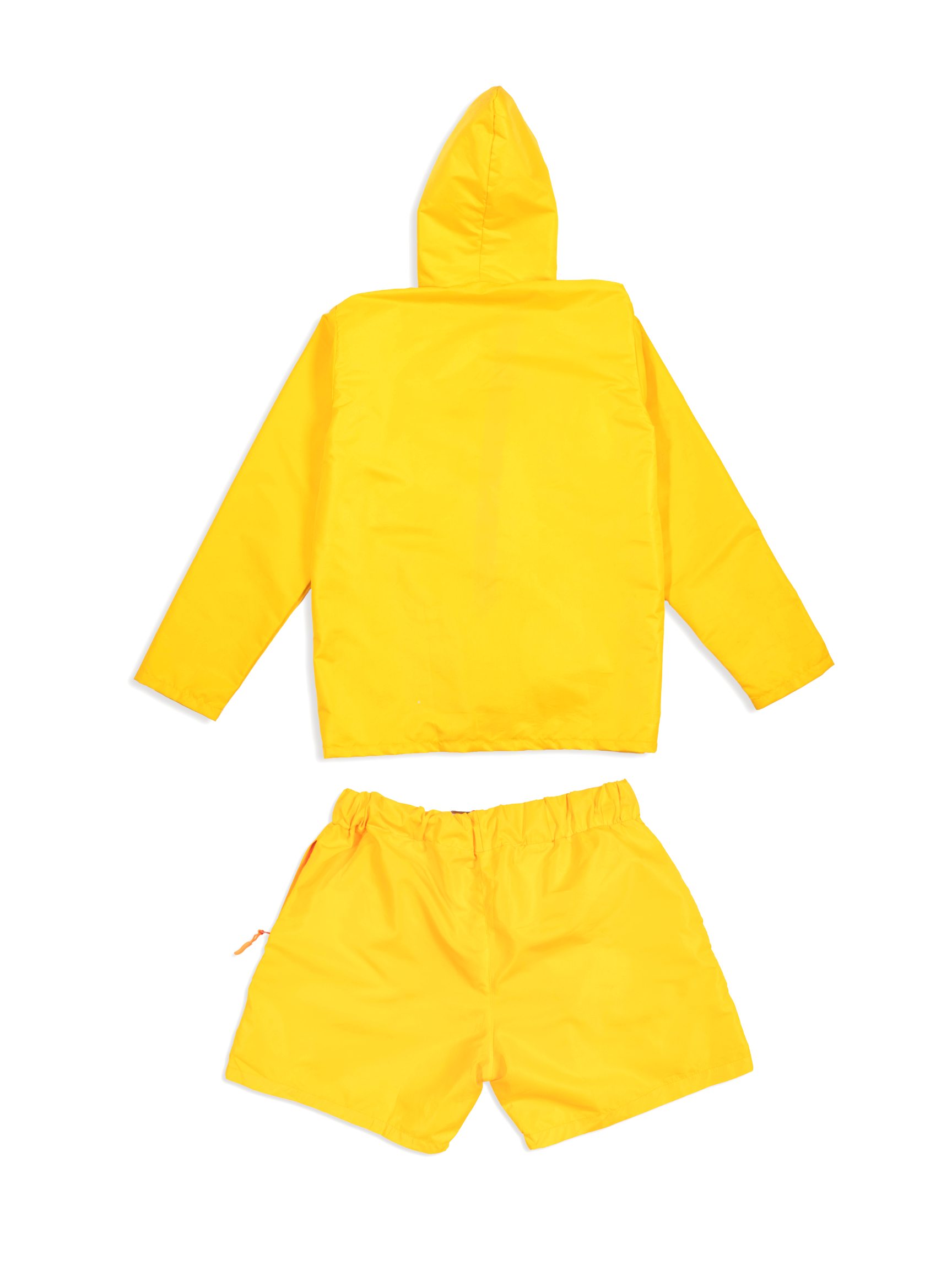 Flat Lay Shot Yellow Nylon Set Back View