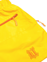 Load image into Gallery viewer, Flat Lay Yellow Nylon Short Front Close Up