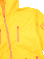 Load image into Gallery viewer, Flat Lay Shot Yellow Nylon Set Close Up Details Jacket