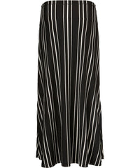 Sanna Maxi Skirt – Black Stripes Print – Masai
