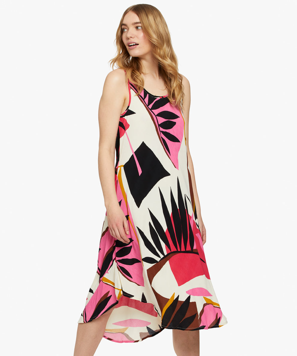 Oculla Dress – Azalea Tropical Abstract Print – Masai