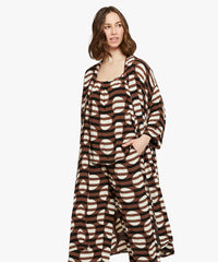 Jossla Duster – Tiramisu Stripe and Dot Print – Masai