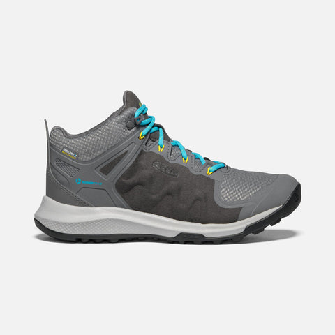 Keen Explore Mid WP Womens - Steel Grey/Turquoise