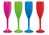 Serroni Carnivale  Champagne Glass - Assorted Colours