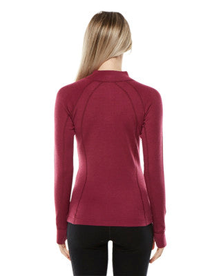 XTM Ladies Merino Long Sleeve Zip Top