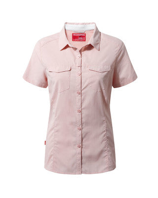 Craghopper NOSILIFE Adventure SS Shirt Womans - Blossom Pink