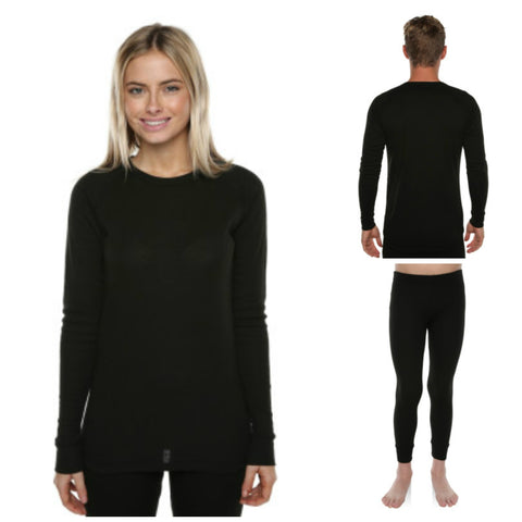XTM Adults Polypro Thermals - Black