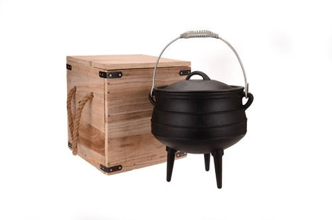 OZtrail Potjie Pot - 8L Cast Iron