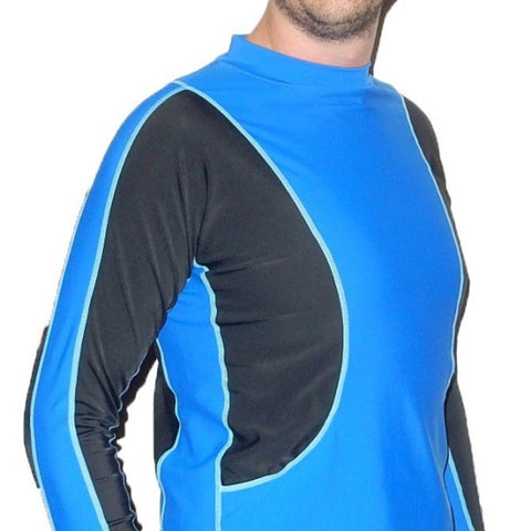 Radicool Adults Long Sleeve Sun Shirt - Royal Blue & Black