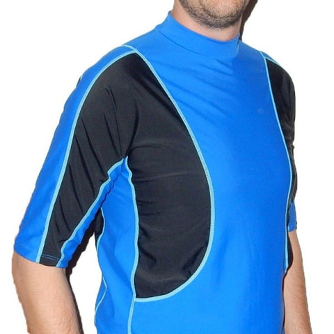 Radicool Adults Panel Sun Shirt - Royal Blue & Black