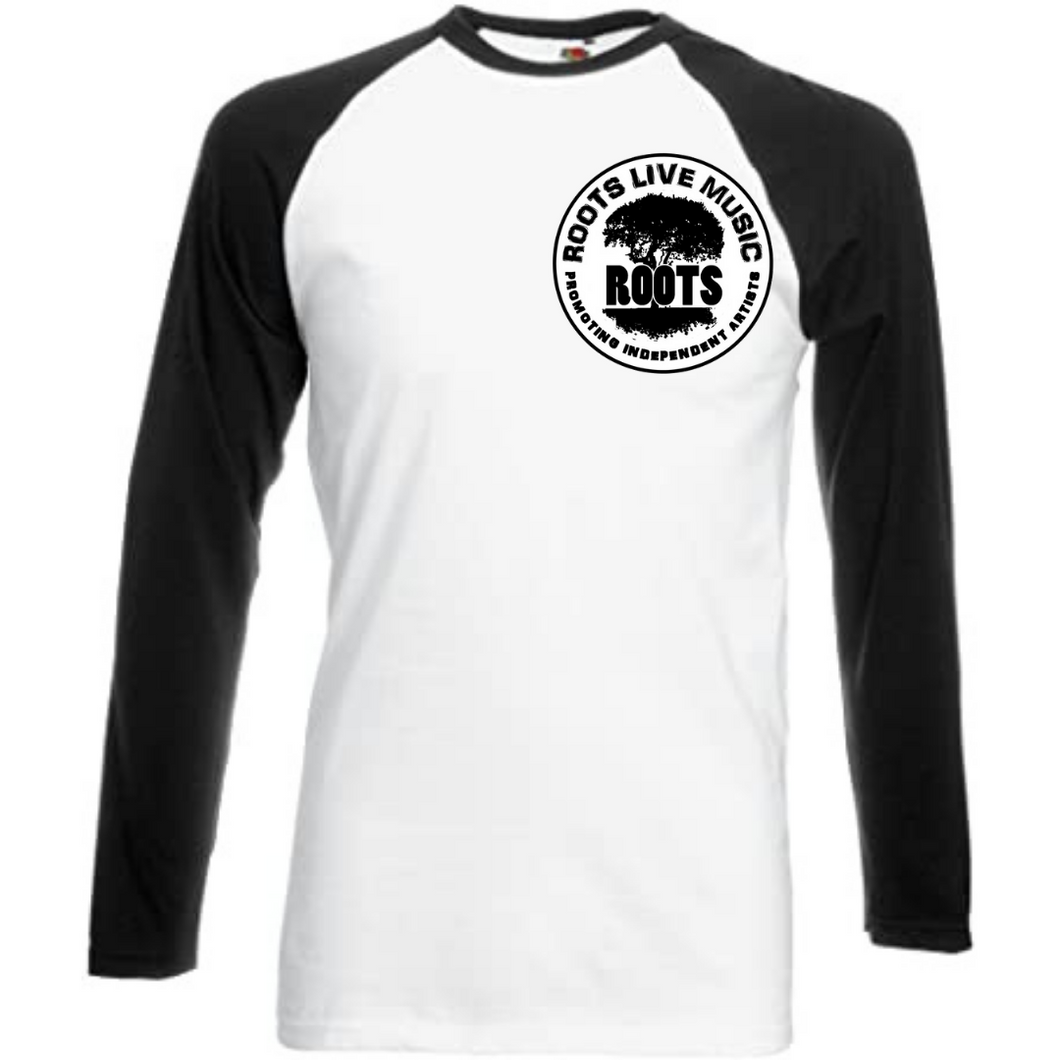 Roots Live Music Baseball shirt