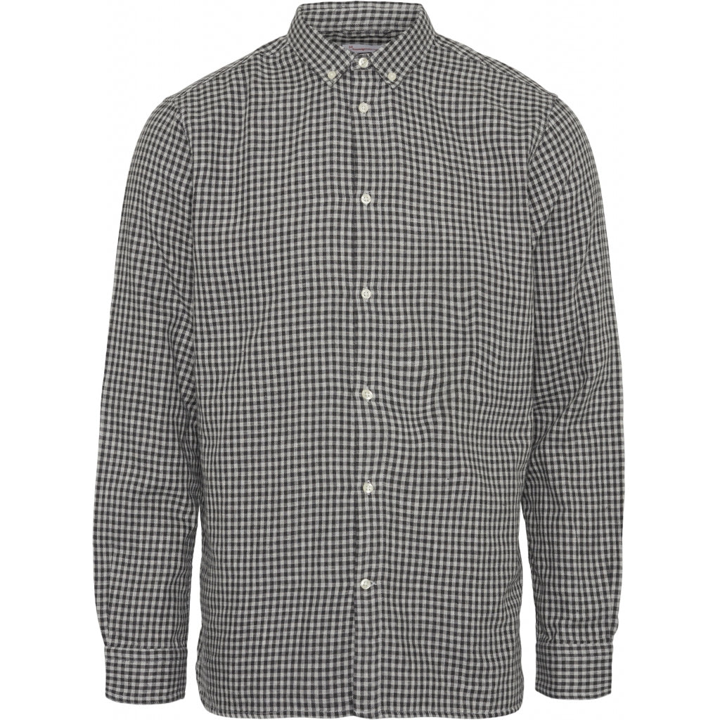 Knowledge Cotton LARCH casual fit double layer checked shirt