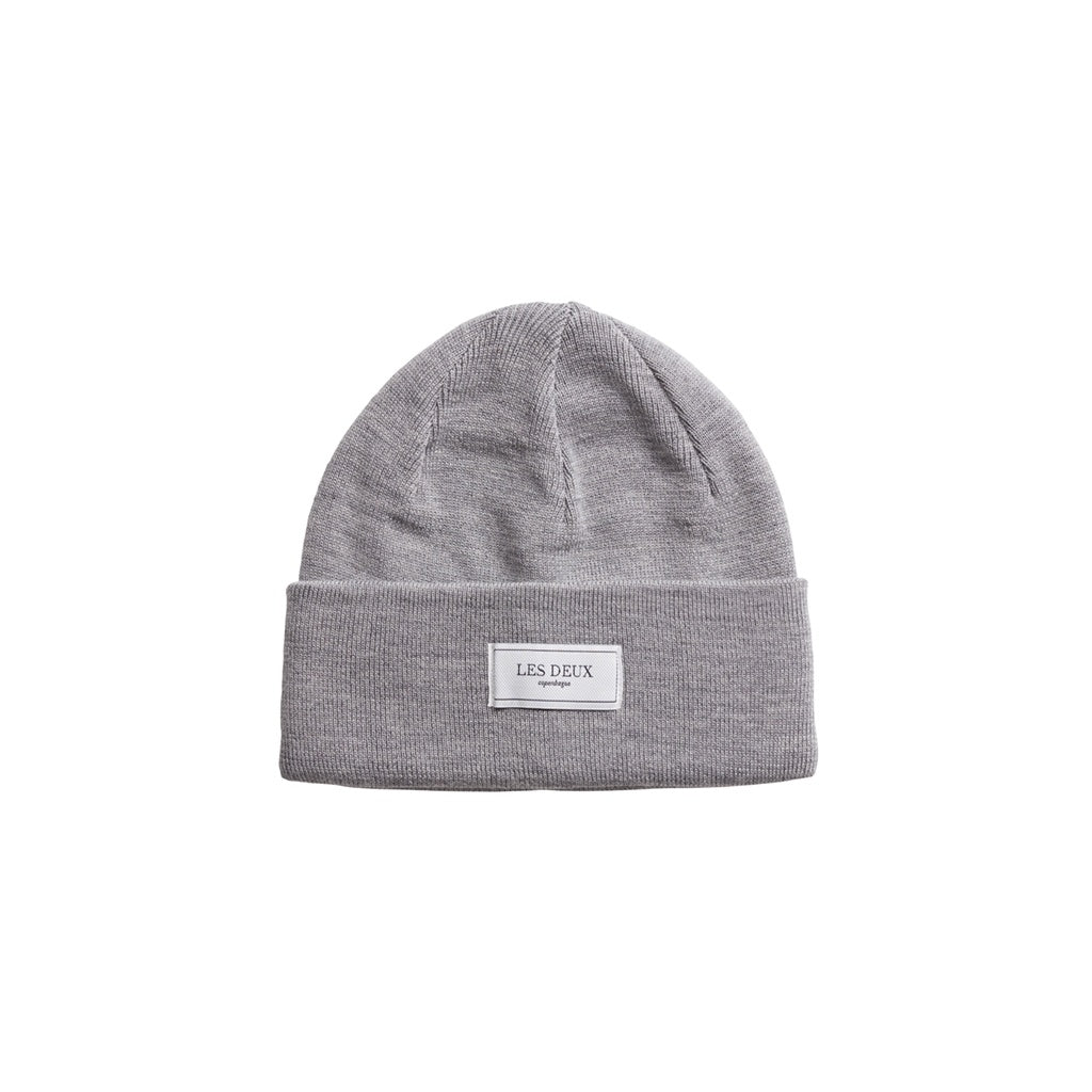 Merino Patch Beanie - Light Grey