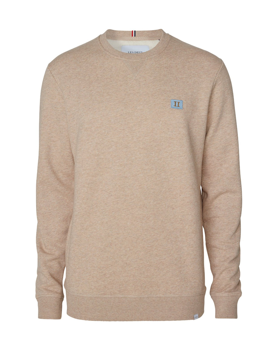Les Deux Piece Sweat -Light Brown Melange/Dust Blue-Stone Brown