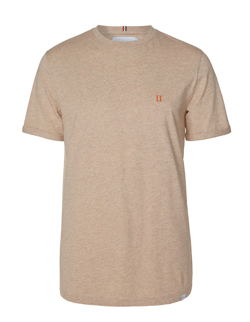 Les Deux Nørregaard T-Shirt Light Brown Melange/Orange
