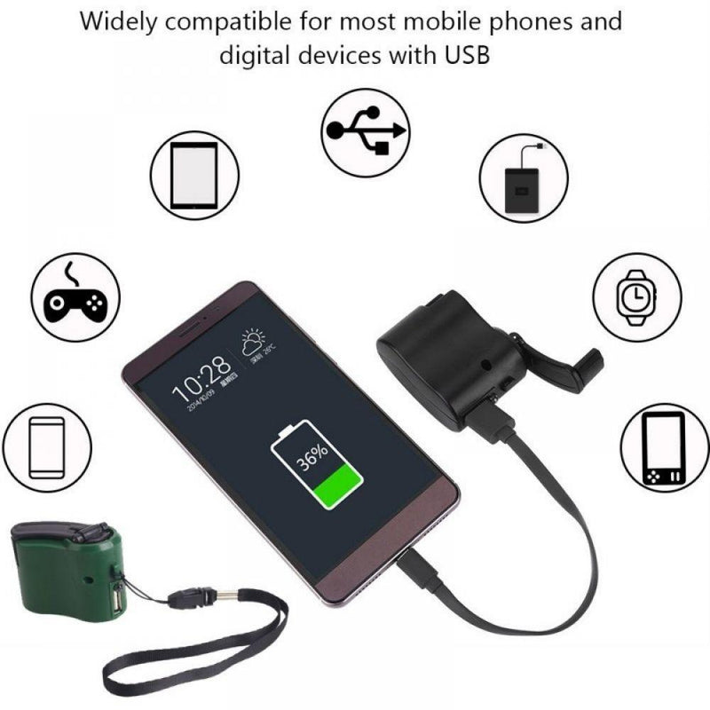 USB Phone Emergency Crank Charger