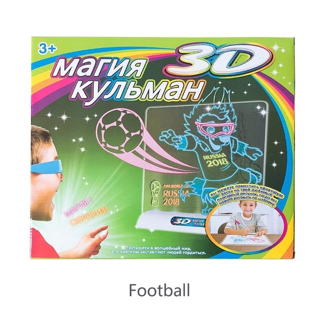 Magic Deluxe Light Up LED 3D Drawing Tablet