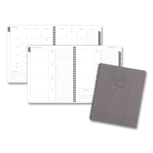 Elevation Linen Weekly-monthly Planner, 8.75 X 7, Black, 2021