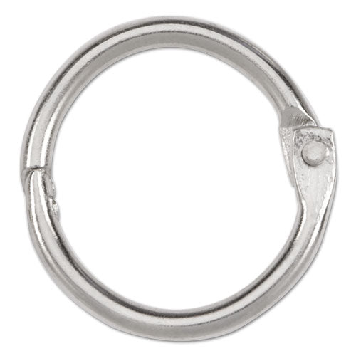"Metal Book Rings, 3-4"" Diameter, 100 Rings-box"