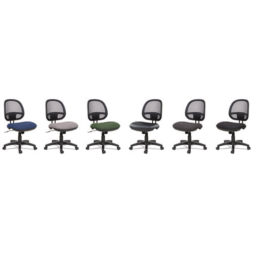 Alera Interval Series Swivel-tilt Mesh Chair, Supports Up To 275 Lbs, Black Seat-black Back, Black Base