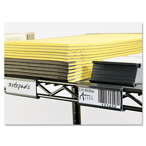 "Wire Shelving Shelf Tag, 3"" Long, Gray, 10-pack"