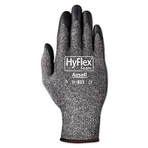 Hyflex Foam Gloves, White-gray, Size 7, 12 Pairs