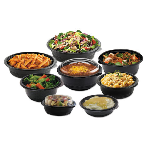 "Microraves Incredi-bowl Base, 24 Oz, 8.5"" Dia X 1.51""h, Black, 150-carton"