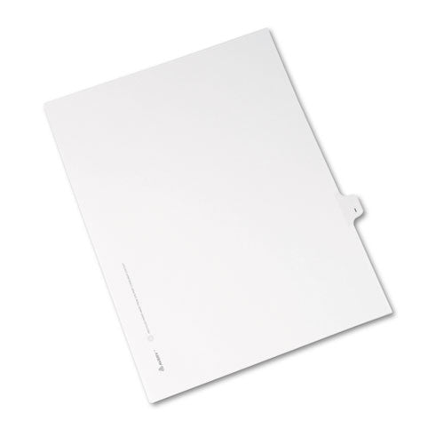 Preprinted Legal Exhibit Side Tab Index Dividers, Avery Style, 26-tab, I, 11 X 8.5, White, 25-pack, (1409)