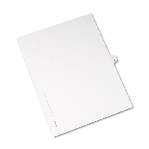 Preprinted Legal Exhibit Side Tab Index Dividers, Avery Style, 26-tab, M, 11 X 8.5, White, 25-pack, (1413)