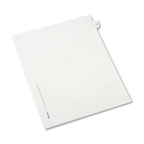 Preprinted Legal Exhibit Side Tab Index Dividers, Avery Style, 26-tab, Y, 11 X 8.5, White, 25-pack, (1425)