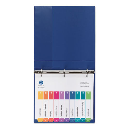 Customizable Toc Ready Index Multicolor Dividers, 10-tab, Letter, 24 Sets