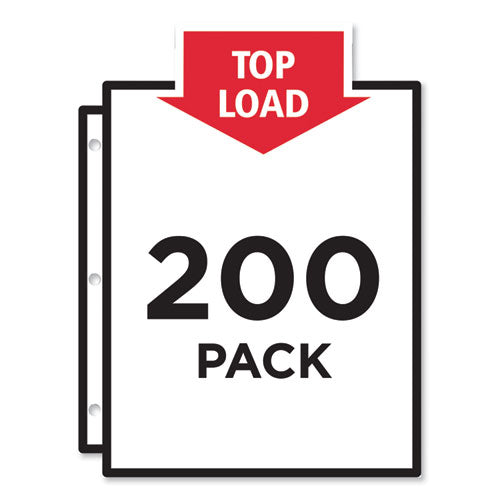 Top-load Poly Sheet Protectors, Heavy Gauge, Letter, Nonglare, 100-box