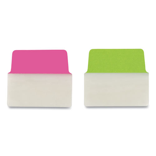 "Ultra Tabs Repositionable Big Tabs, 1-5-cut Tabs, Assorted Neon, 2"" Wide, 20-pack"
