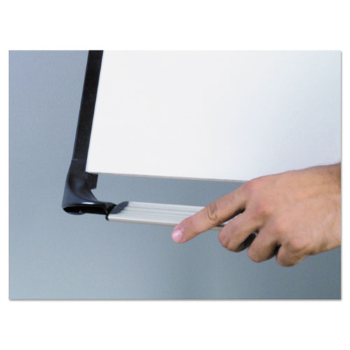 "Tripod Extension Bar Magnetic Dry-erase Easel, 39"" To 72"" High, Black-silver"