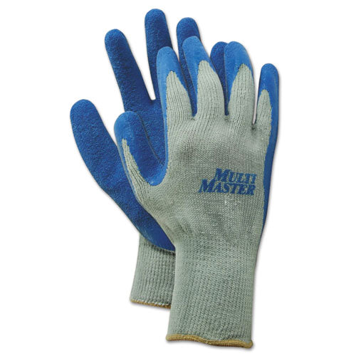 Rubber Palm Gloves, Gray-blue, X-large, 1 Dozen