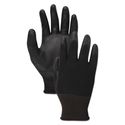 Pu Palm Coated Gloves, Black, Size 11 (2x-large), 1 Dozen