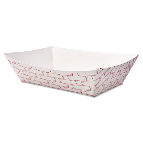 Paper Food Baskets, 2lb Capacity, Red-white, 1000-carton