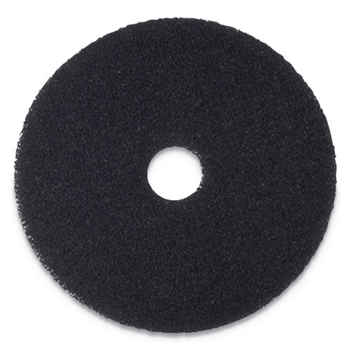 "Stripping Floor Pads, 18"" Diameter, Black, 5-carton"