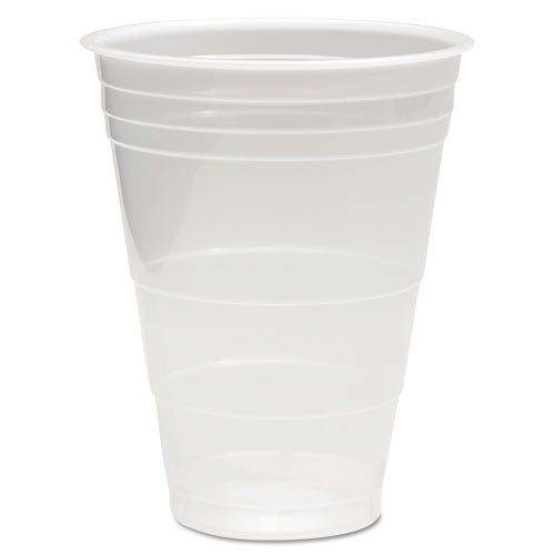 Translucent Plastic Cold Cups, 16oz, Polypropylene, 50-pack