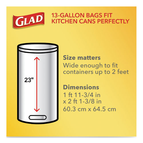 "Tall Kitchen Drawstring Trash Bags, 13 Gal, 0.72 Mil, 23.75"" X 24.88"", White, 240-carton"