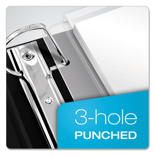Expanding Zipper Binder Pockets, 11 X 8 1-2, Clear, 3-pack