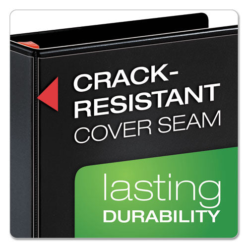 "Xtralife Clearvue Non-stick Locking Slant-d Ring Binder, 3 Rings, 1.5"" Capacity, 11 X 8.5, Black"