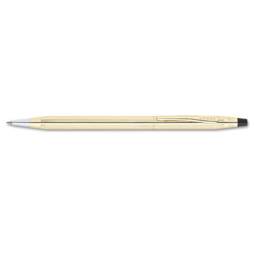 Classic Century Twist-action Ballpoint Pen Gift Box, 1mm, Black Ink, Black-gold Barrel