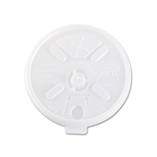 Translucent Lids For 12-24oz Foam Cups, Straw Slot, 1000-carton