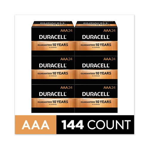 Coppertop Alkaline Aaa Batteries, 144-carton