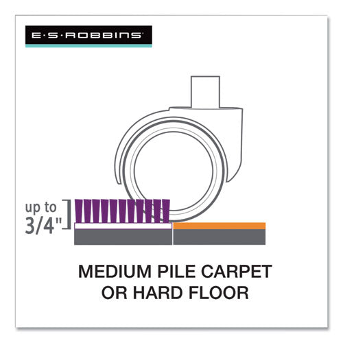 "Floor+mate, For Hard Floor To Medium Pile Carpet Up To 0.75"", 36 X 48, Clear"