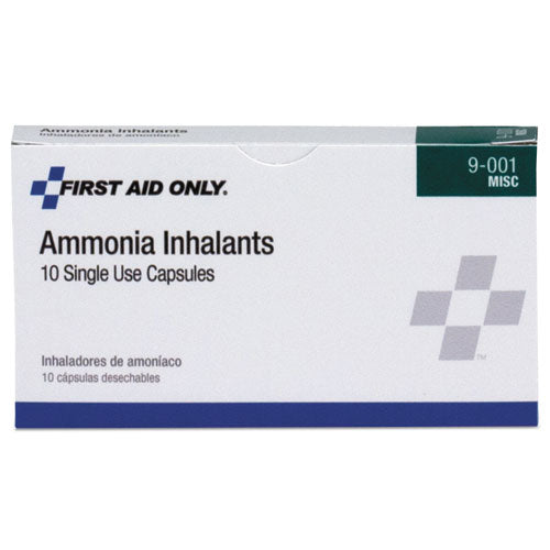 Refill For Smartcompliance General Business Cabinet, Ammonia Inhalants, 10-box